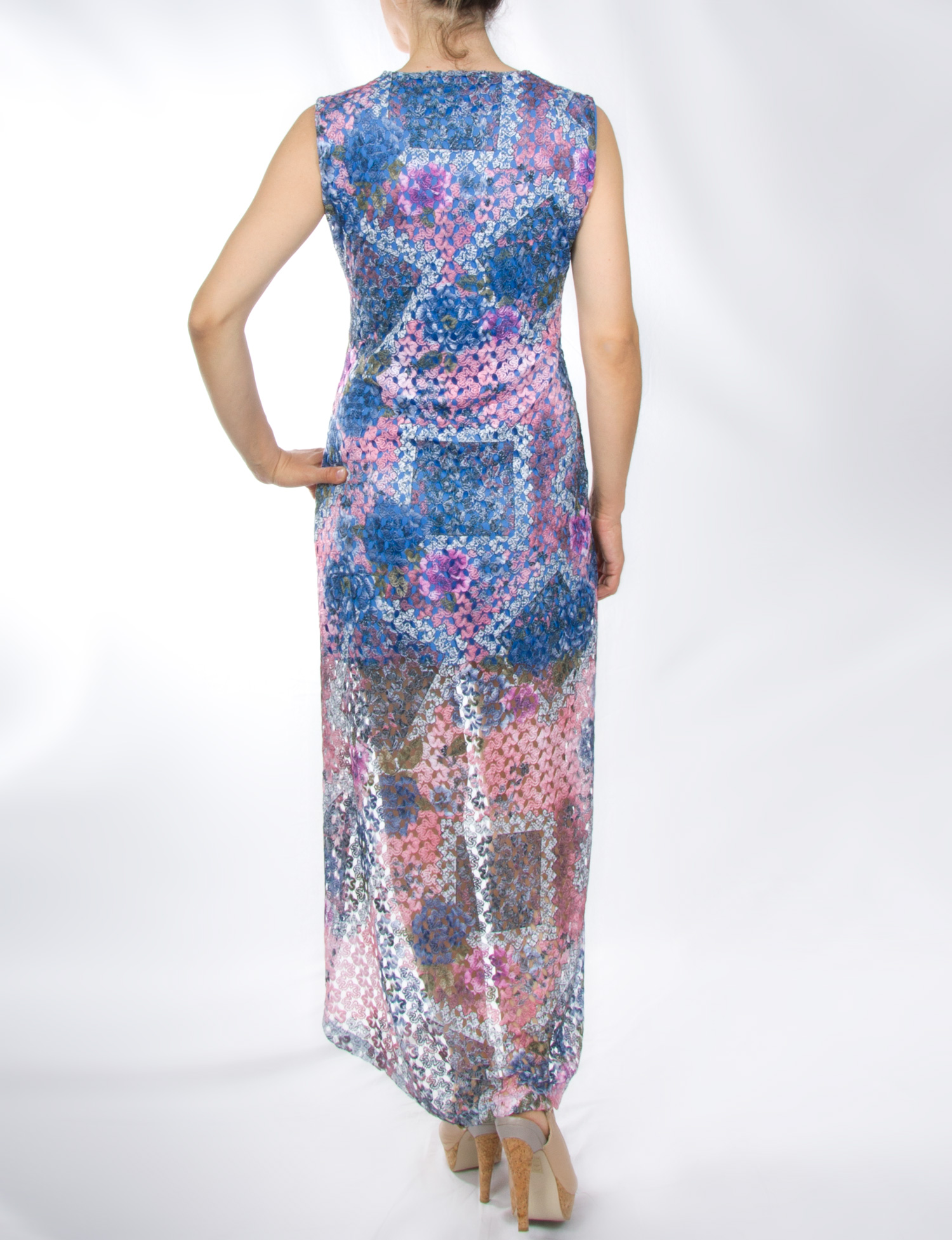 Φόρεμα μάξι με δαντέλα