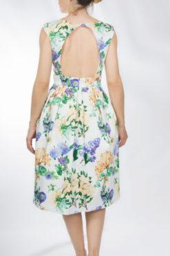Floral φόρεμα με ανοιχτή πλάτη