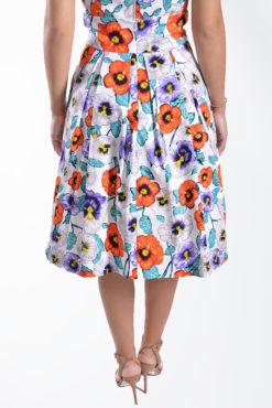 Floral φούστα