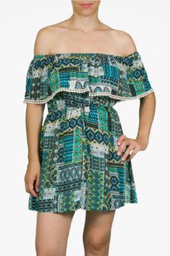 Φόρεμα μίνι εμπριμέ