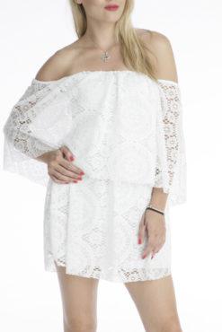 Φόρεμα μίνι με δαντέλα