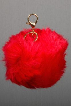 Μπρελόκ με κόκκινη XL φούντα