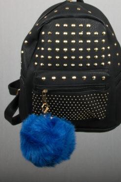 Μπρελόκ με μπλε electric XL φούντα