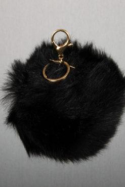 Μπρελόκ με μαύρη XL φούντα
