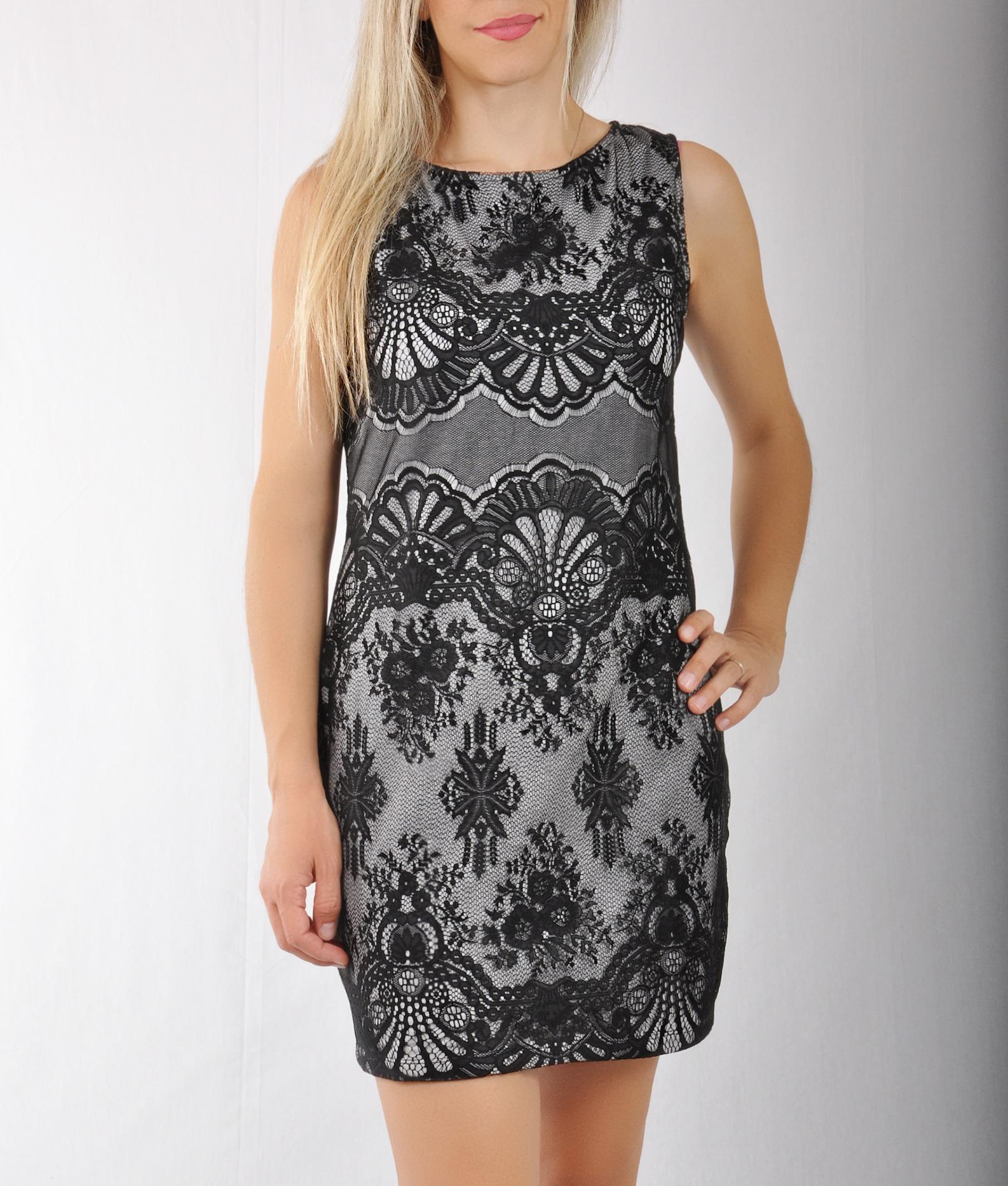 Mini φόρεμα δαντέλα