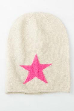 Μάλλινο πλεκτό σκουφάκι με αστέρι