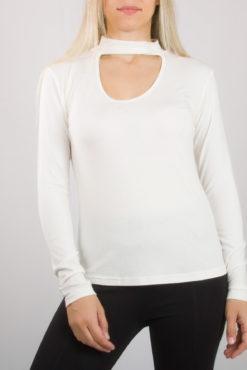 Μπλούζα με τσόκερ μακρύ μανίκι