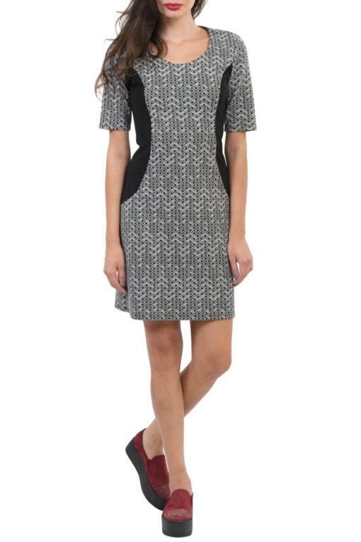 Φόρεμα mini ζακάρ εμπριμέ