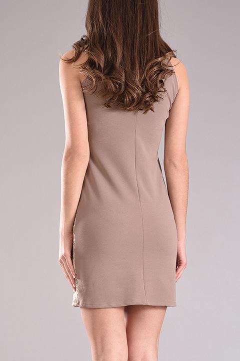 a97968d4963 Φόρεμα mini με δαντέλα σε πούρο χρώμα - 2017 | PICK STORE