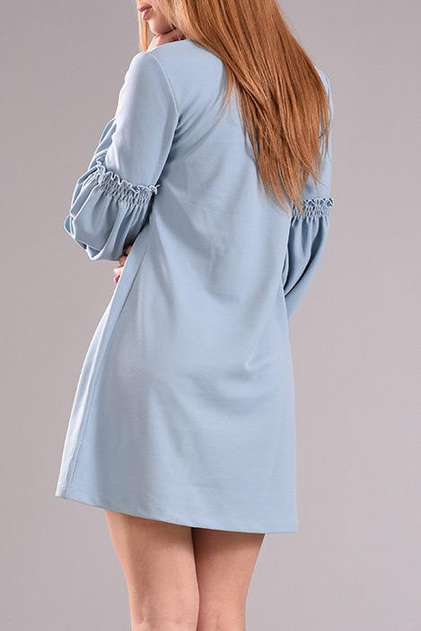Φόρεμα κοντό σε άλφα γραμμή με καμπάνα μανίκι