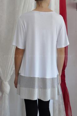 Μπλουζοφόρεμα με ριγέ φάσα