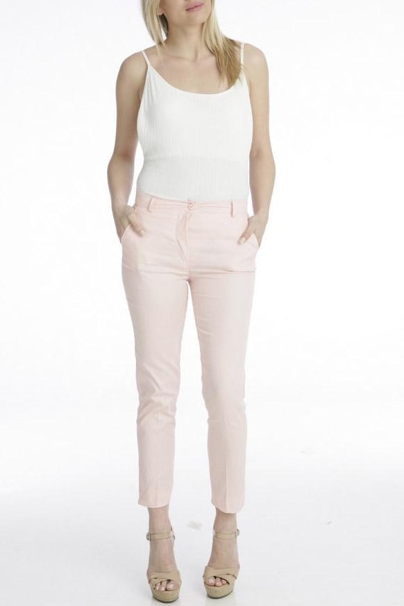 Παντελόνι ίσια γραμμή σε ροζ χρώμα