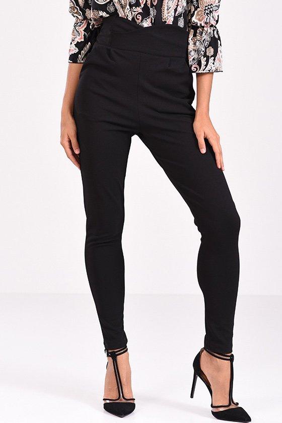 παντελόνι μαύρο ψηλόμεσο στενό