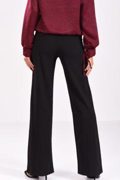 μαύρη παντελόνα κρεπ με ραφή - πίσω μέρος