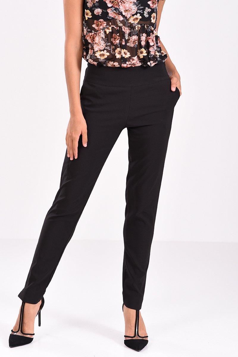 Παντελόνι σε ίσια γραμμή μαύρο