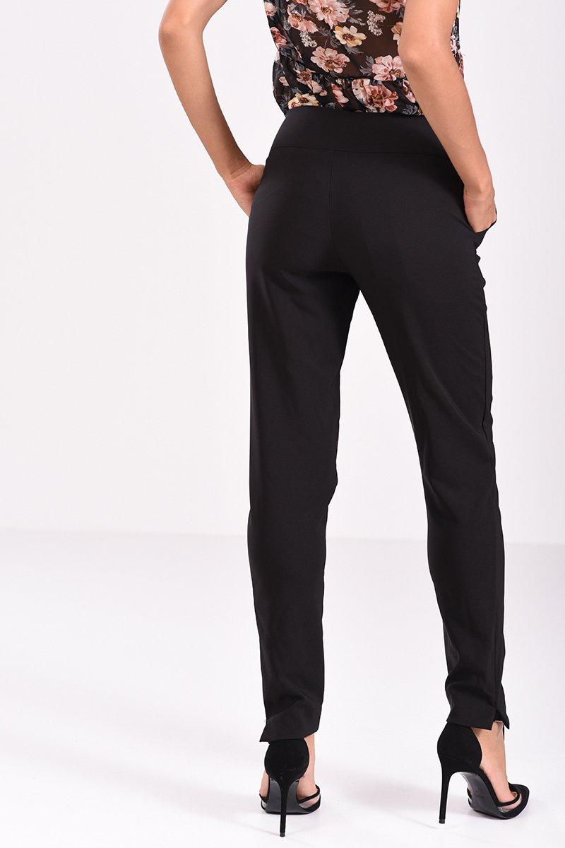 Παντελόνι σε ίσια γραμμή μαύρο - πίσω όψη