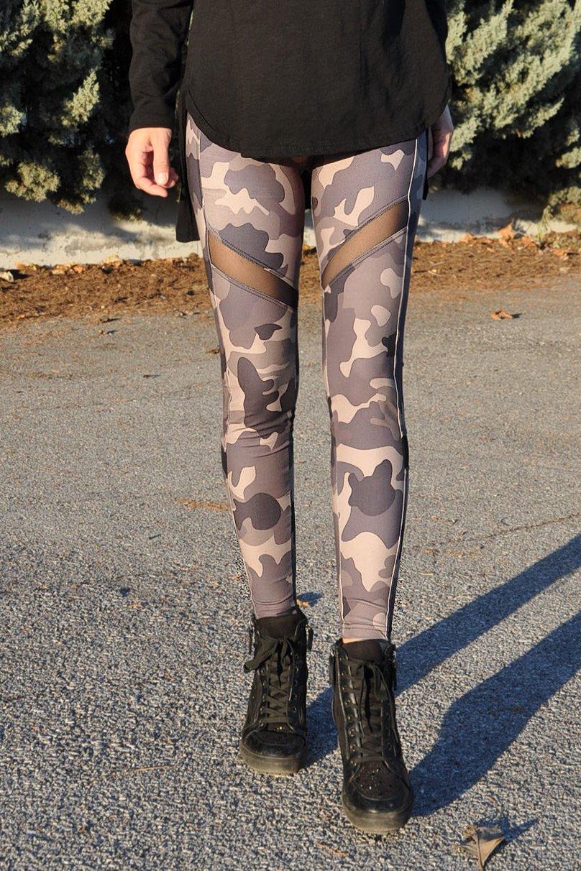 dd690f7cd1ac Γυναικείο Κολάν Παραλλαγής (Militaire) με Διαφάνεια - Μεγέθη  S-XXL