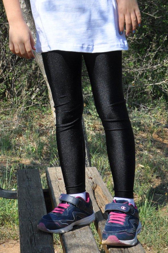 363fd576cbef Παιδικό γυαλιστερό κολάν σε μαύρο χρώμα - Για κορίτσια 0-12 ετών