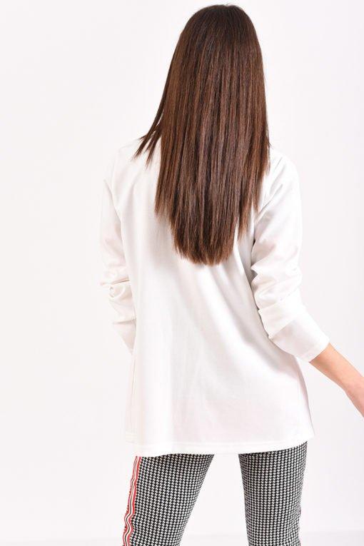 Σακάκι χωρίς κουμπιά σε εκρού χρώμα