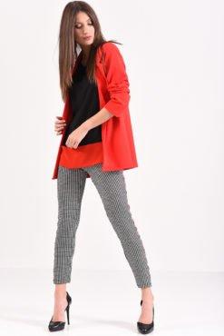 Σακάκι χωρίς κουμπιά σε κόκκινο χρώμα