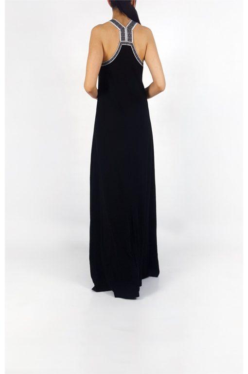 db2376da8497 Μάξι αμάνικο φόρεμα με σχέδιο στη πλάτη – Pick Store