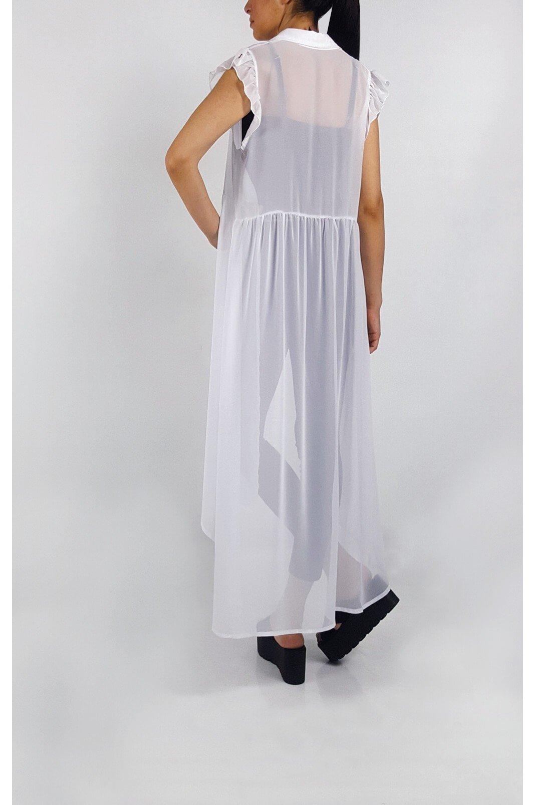f30d5b78bcef Αμάνικη λευκή μακριά πουκαμίσα – Pick Store