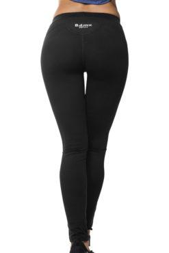 Ελαστικό γυναικείο dry fit κολάν σε μαύρο χρώμα