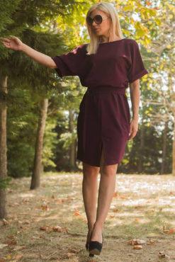 Φόρεμα σάκος με ζωνάκι στη μέση