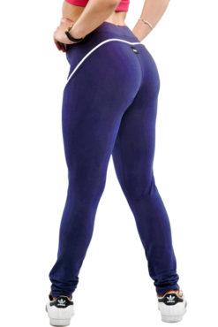 Κολάν dry-fit, ψηλόμεσο με λεπτή ρίγα στο πλάι μπλε ρουά