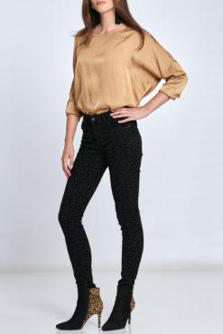 Λεοπάρ βελουτέ παντελόνι μαύρο