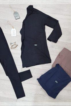 Ζακέτα wool look (3 χρώματα) + μεταλλιζέ κολάν