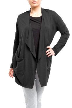 Ζακέτα wool look με τσέπες (μαύρη, μπλε, πούρο)