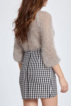 Ψηλόμεση καρό mini φούστα