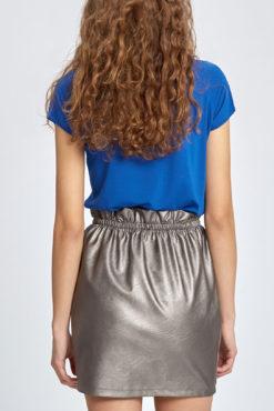 Mini φούστα δερματίνη με λάστιχο στην μέση