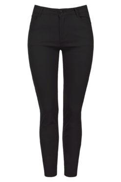 Παντελόνι plus size ψηλόμεσο σε μαύρο