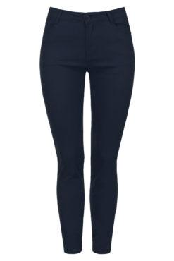 Παντελόνι plus size ψηλόμεσο σε μπλε σκούρο