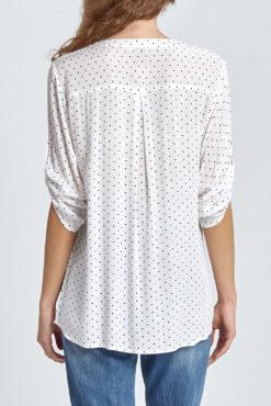 Μπλούζα πουά με κουμπάκια σε λευκό