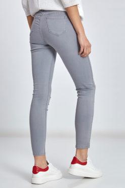 Ψηλόμεσο παντελόνι σε γκρι ανοιχτό