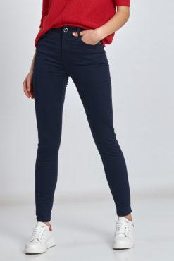 5-τσεπο ψηλόμεσο παντελόνι σε μπλε σκούρο