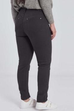 Ψηλόμεσο παντελόνι σε γκρι χρώμα