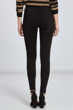 Ψηλόμεσο skinny παντελόνι μαύρο