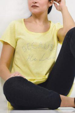 T-shirt ασύμμετρο με στρασάκια