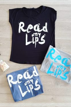 "T-shirt με τύπωμα ""Read my Lips"""