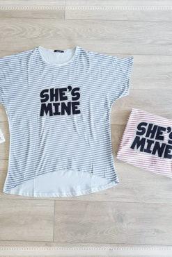 Μπλούζα ριγέ she's mine