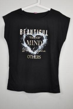 """T-shirt με μεταλλικό τύπωμα """"beautiful mind"""""""