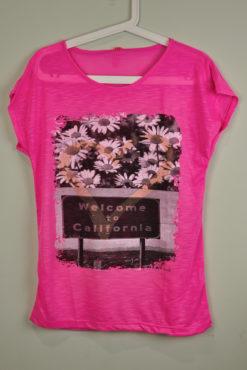 T-shirt με τύπωμα λουλούδια