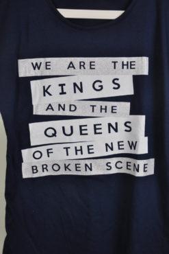 """T-shirt με τύπωμα """"king queens"""""""