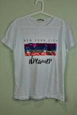"T-shirt με τύπωμα ""dreamer"" και παγιέτες"