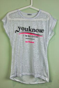 "T-shirt ασύμμετρο με τύπωμα ""youknow"""