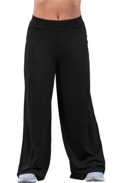 Παντελόνα ψηλόμεση μονόχρωμη μαύρη